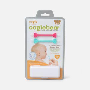 Oogiebear Baby Booger Picker with Case, 2-Pack, Raspberry/Seafoam