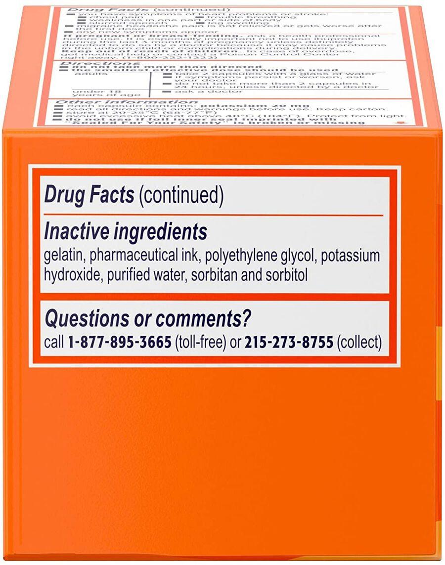 Motrin IB Migraine Liquid Filled Caps, 200 mg, 80 ct, , large image number 4