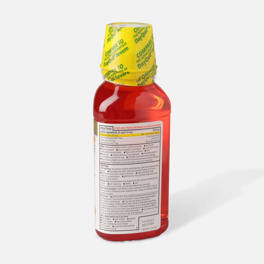 GoodSense® DayTime Cold & Flu Non Drowsy Severe, 12 fl oz, , large image number 1