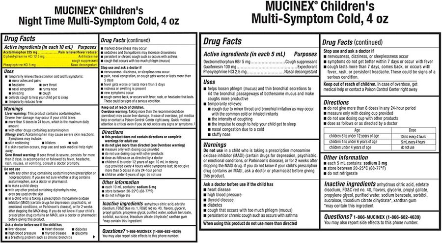 MUCINEX Children's Liquid, Multi-Symptom Day and Night, 2-Pack, , large image number 1