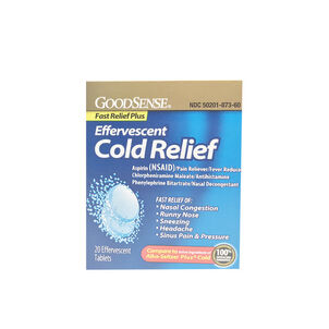 GoodSense® Effervescent Cold Relief Plus Tablets, 20 count