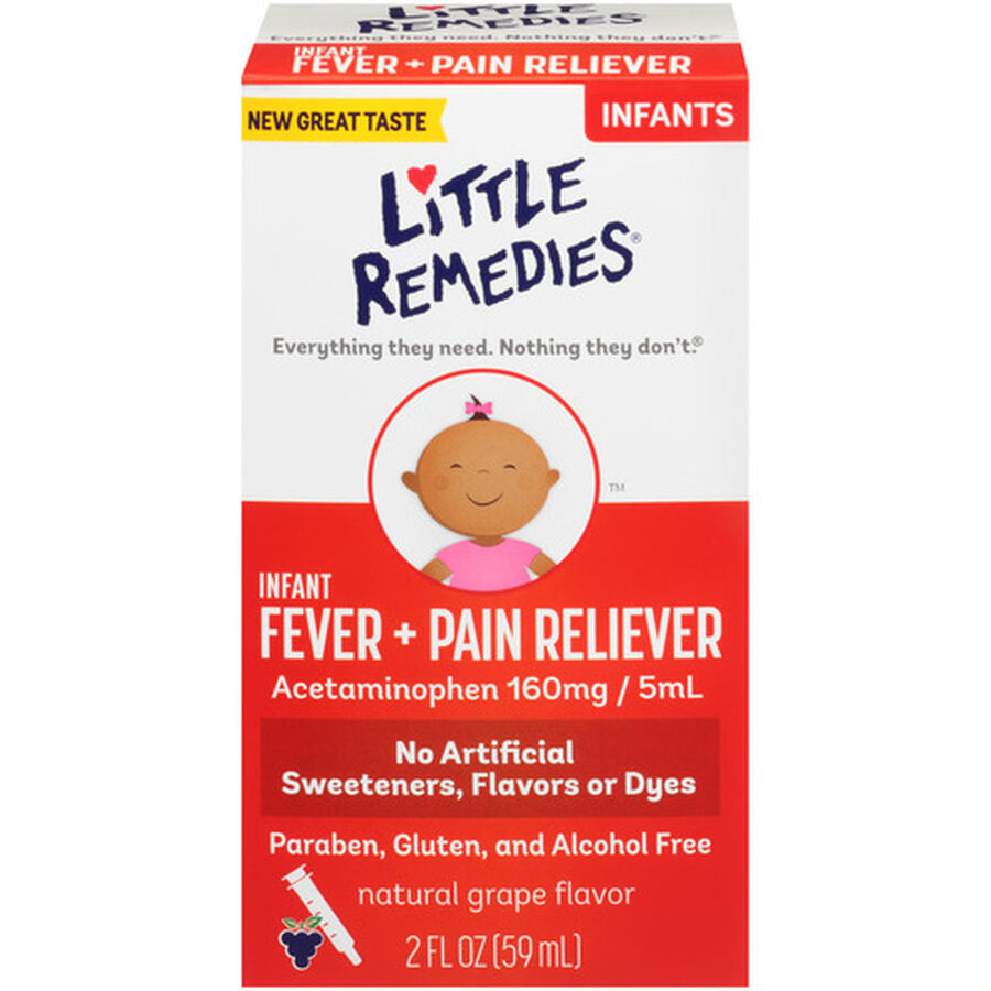 Little Fevers Infant Fever & Pain Reliever, Grape, 2 oz, , large image number 0
