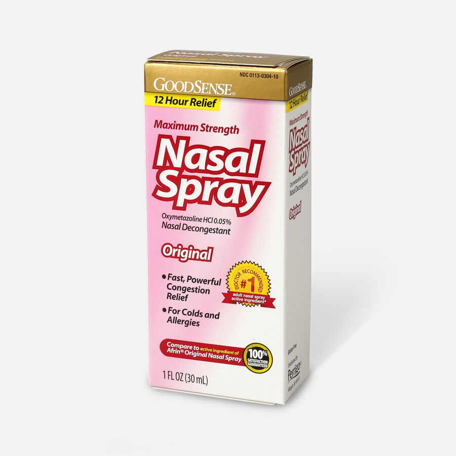 GoodSense® Oxymetazoline HCl 0.05% Nasal Allergy Spray for Sinus Relief and Allergy Relief, , large image number 2