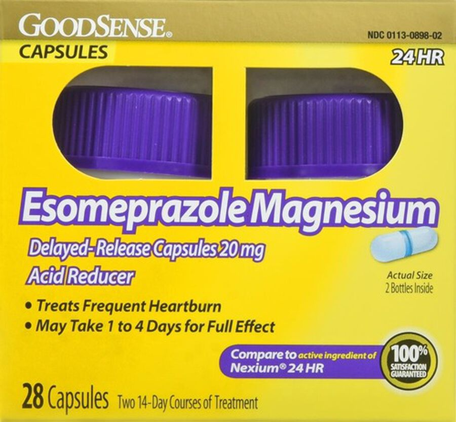 GoodSense® Esomeprazole Magnesium 20 MG 24-HR Delayed Release Capsules, 2/14 ct, , large image number 0