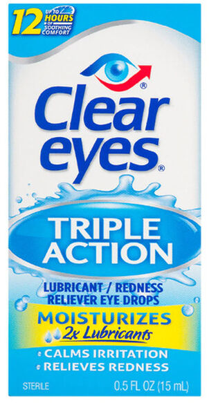 Clear Eyes Triple Action Drops, .5 oz