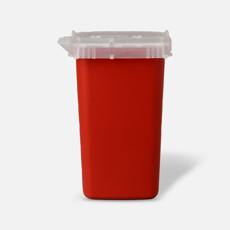 Kendal 8900SA Sharps Container 1 Quart, Red, , large image number 1