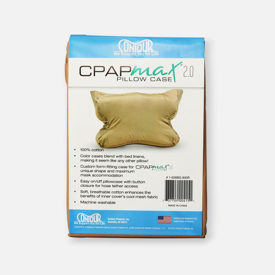 CPAP Max 2.0 Standard Pillowcase, Beige, , large image number 1