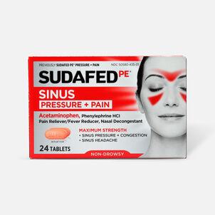 Sudafed PE Sinus Pressure + Pain Max Strength Non-Drowsy Caplets 24 ct