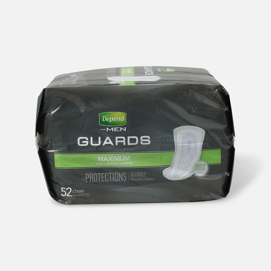 Depend Incontinence Guards for Men, Maximum Absorbency, 52 ea, , large image number 1