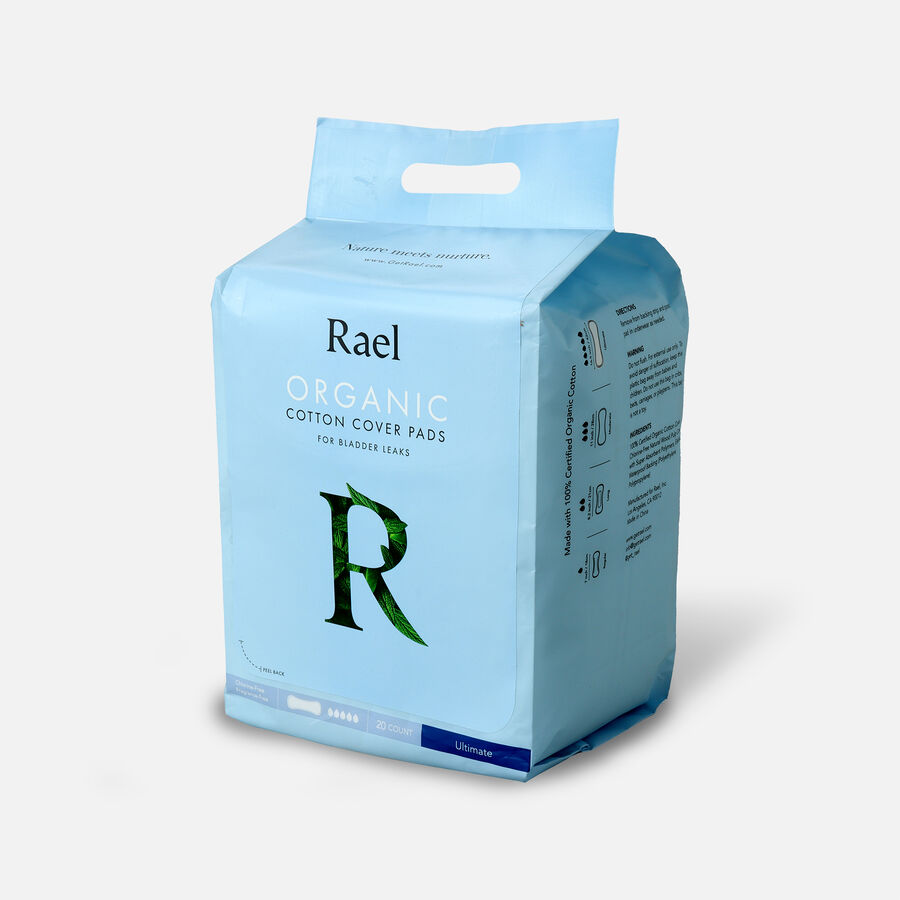 Rael Organic Cotton Cover Pads for Bladder Leaks, Ultimate, 20ct, , large image number 2