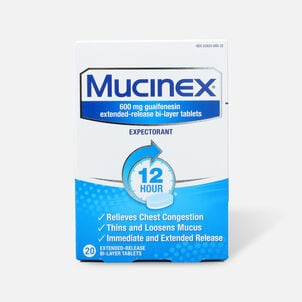 Mucinex SE Extended Release Bi-Layer Tablets, 20 ct