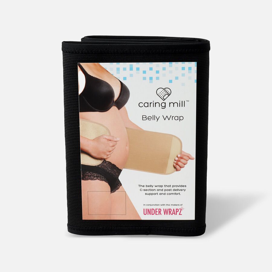 Caring Mill® Belly Wrap by Under Wrapz- Black, , large image number 0