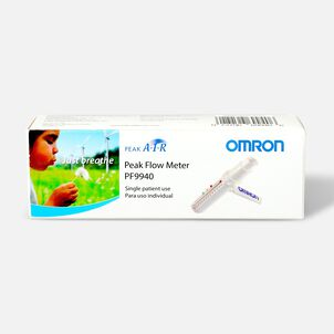 OMRON PeakAir Flow Meter, Adult or Pediatric, Model PF 9940