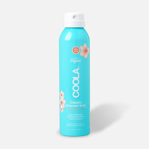 Coola Classic Body Organic Sunscreen Spray SPF 70 Peach Blossom, 6oz.