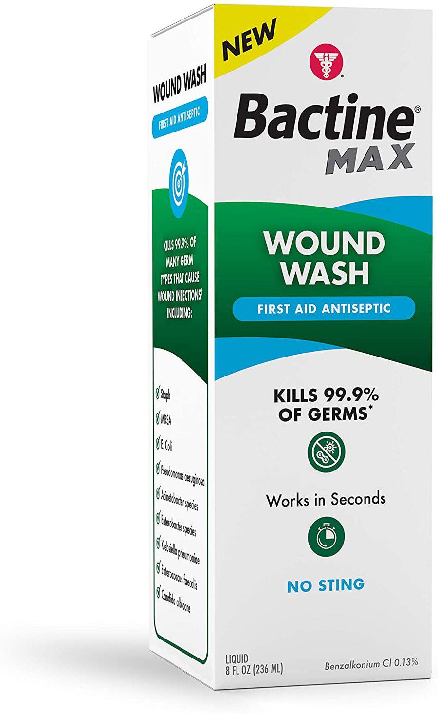 Bactine MAX Wound Wash Liquid, 8 oz., , large image number 0