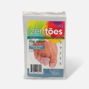 ZenToes Broken Toe Wraps Cushioned Bandages - 4 Pack