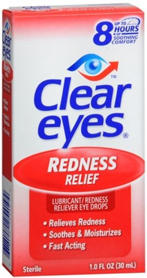 Clear Eyes Redness Relief Drops, 1 oz