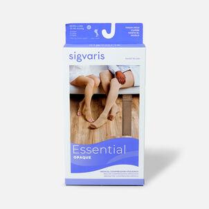 SIGVARIS Essential Opaque Thigh-High Open Toe, Crispa