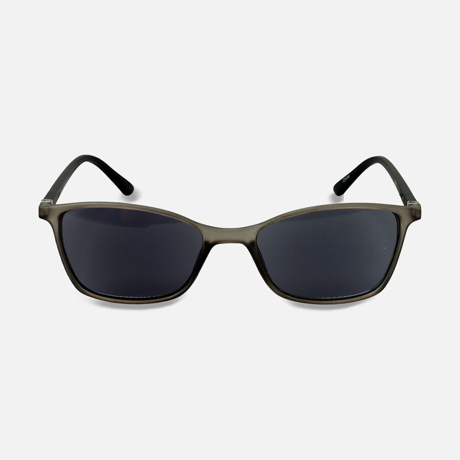 Sunglass Reader with Smoke Tint, Matte Crystal Gray, , large image number 2