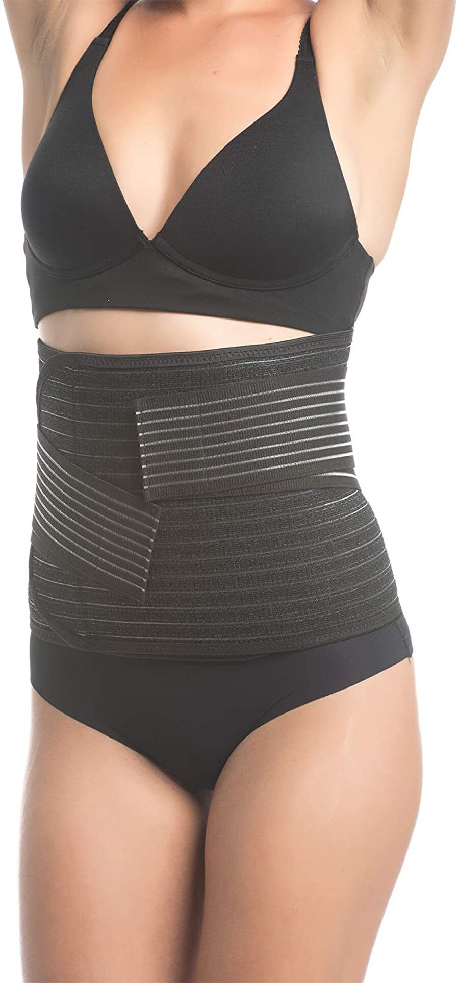 Shrinkx Belly Postpartum Belly Wrap with Bamboo Charcoal Fiber, Black, , large image number 1