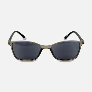 Sunglass Reader with Smoke Tint, Matte Crystal Gray