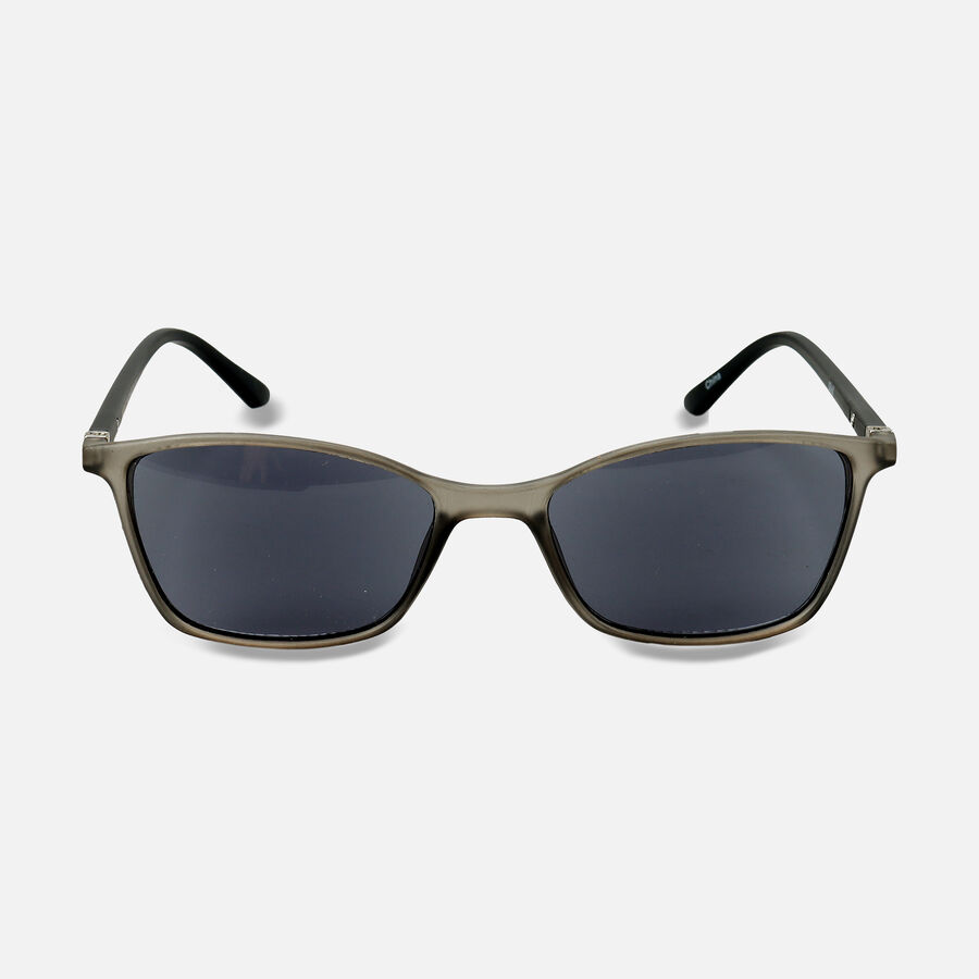 Sunglass Reader with Smoke Tint, Matte Crystal Gray, , large image number 0