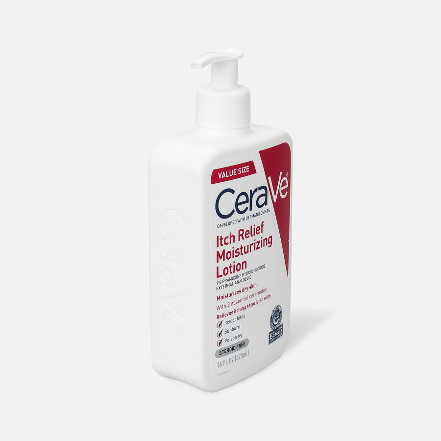 CeraVe Moisturizing Lotion for Itch Relief, 16 oz, , large image number 2