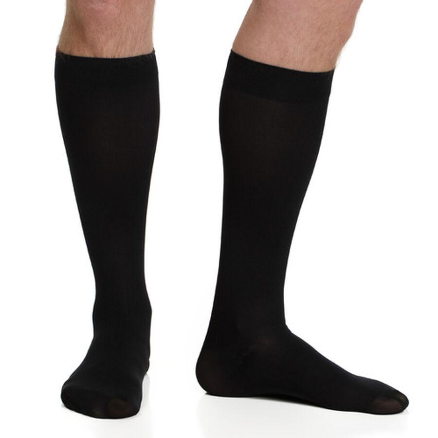 VIM & VIGR Moisture-Wick Nylon Compression Socks, Solid Black, Wide Calf, 30-40 mmHg, , large image number 9