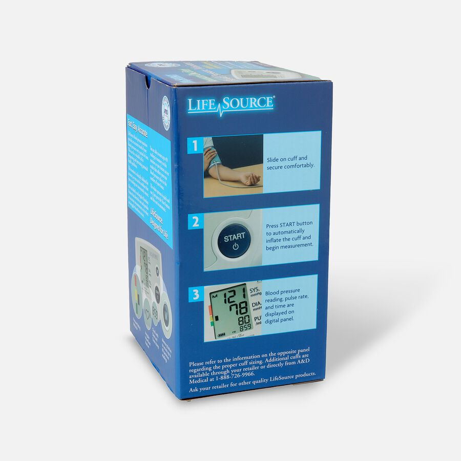 Lifesource Automatic Arm Blood Pressure Monitor with Small Cuff, , large image number 2