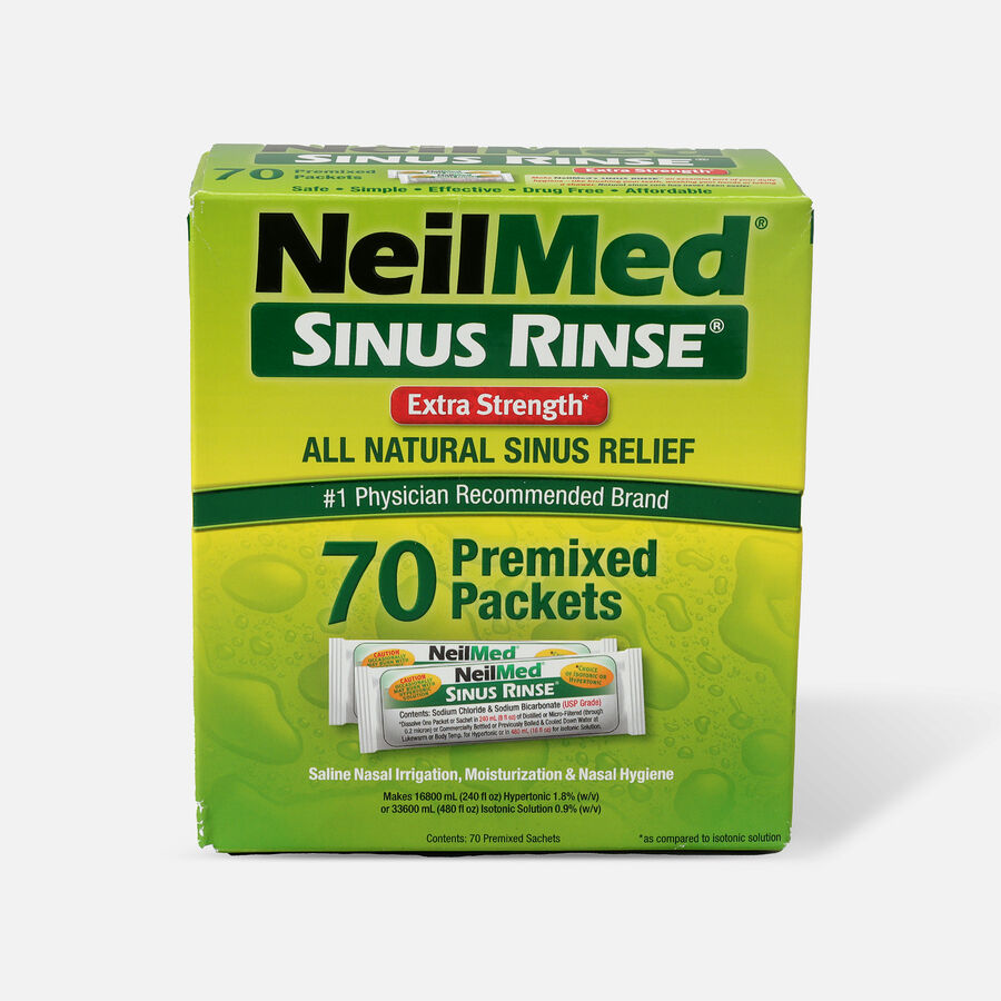 NeilMed Sinus Rinse Hypertonic Packets For Soothing Saline Nasal Rinse - 70 Each, , large image number 0