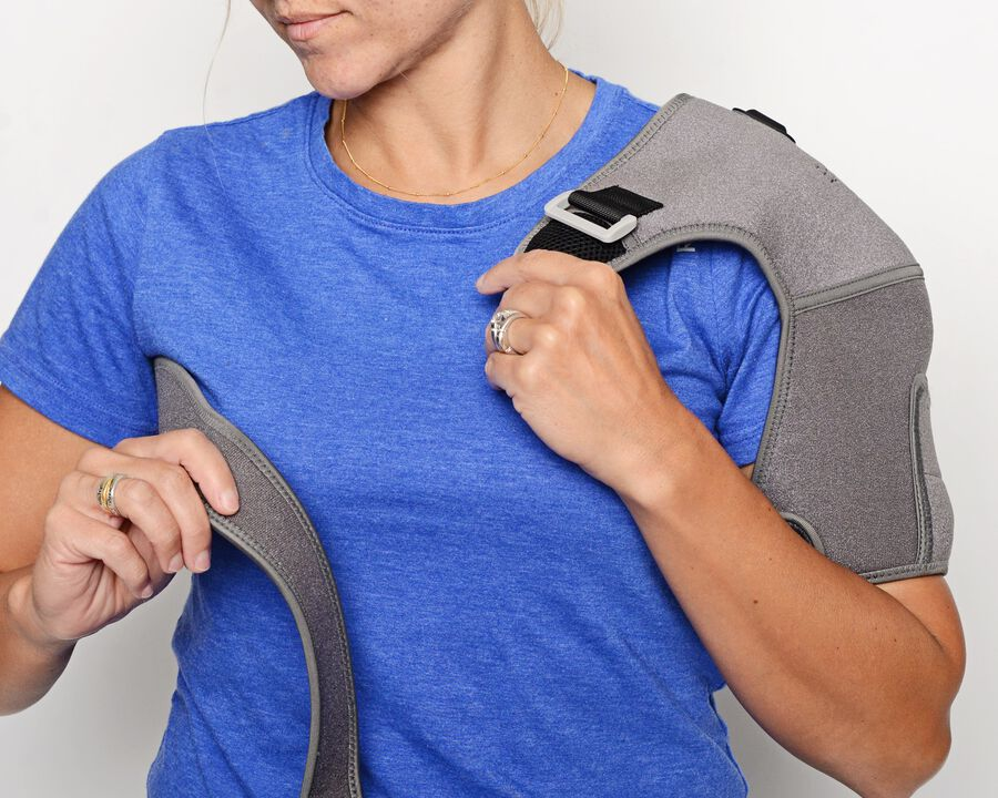 Battle Creek Embrace ™ Relief Shoulder Wrap – Portable, 3 Temperature Settings, Auto Shut Off, Wireless & Rechargeable Wrap, Battery-Operated Heat Therapy Wrap for Rotator Cuff and Shoulder Pain Relief, , large image number 7
