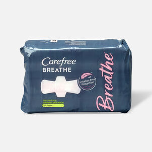 Carefree Breathe Ultra Thin Super Pads with Wings, 28ct