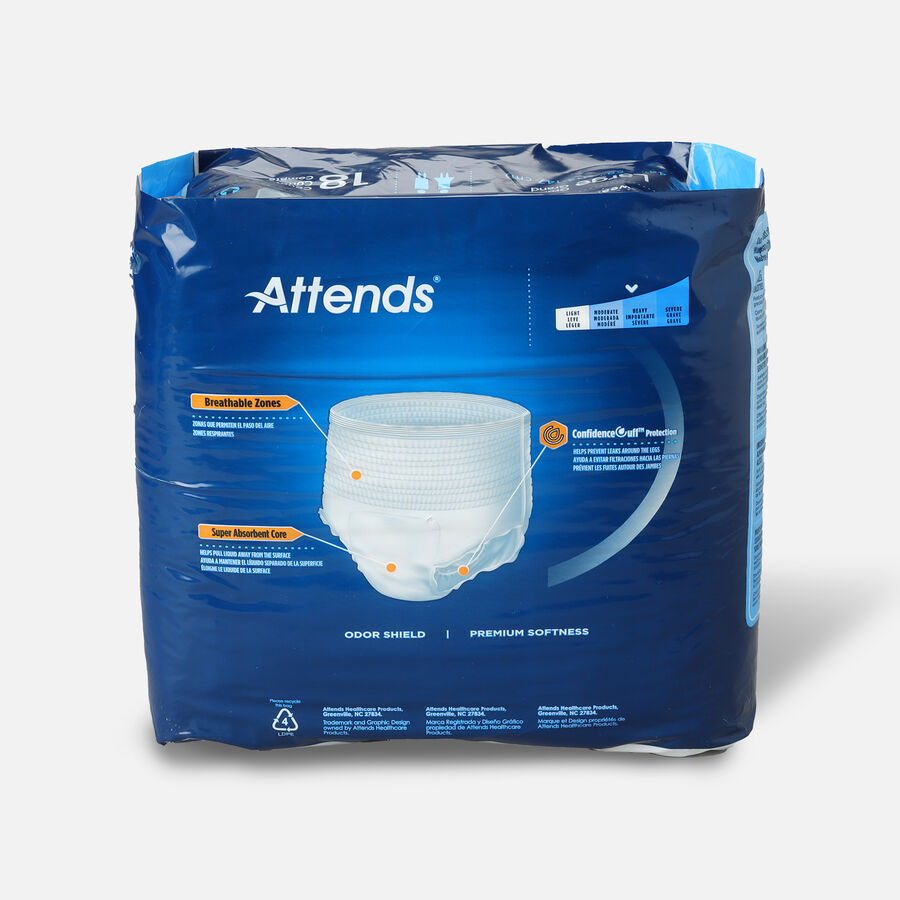 "Attends Adult Extra Absorbency Protective Underwear Large 44"" - 58"" (Pack of 18), , large image number 1"
