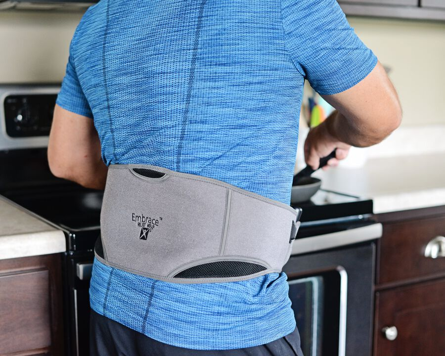 Battle Creek Embrace ™ Relief Back Wrap – Portable, 3 Temperature Settings, Auto Shut Off, Wireless & Rechargeable Wrap, Battery-Operated Heat Therapy Wrap for Back Pain Relief, , large image number 8