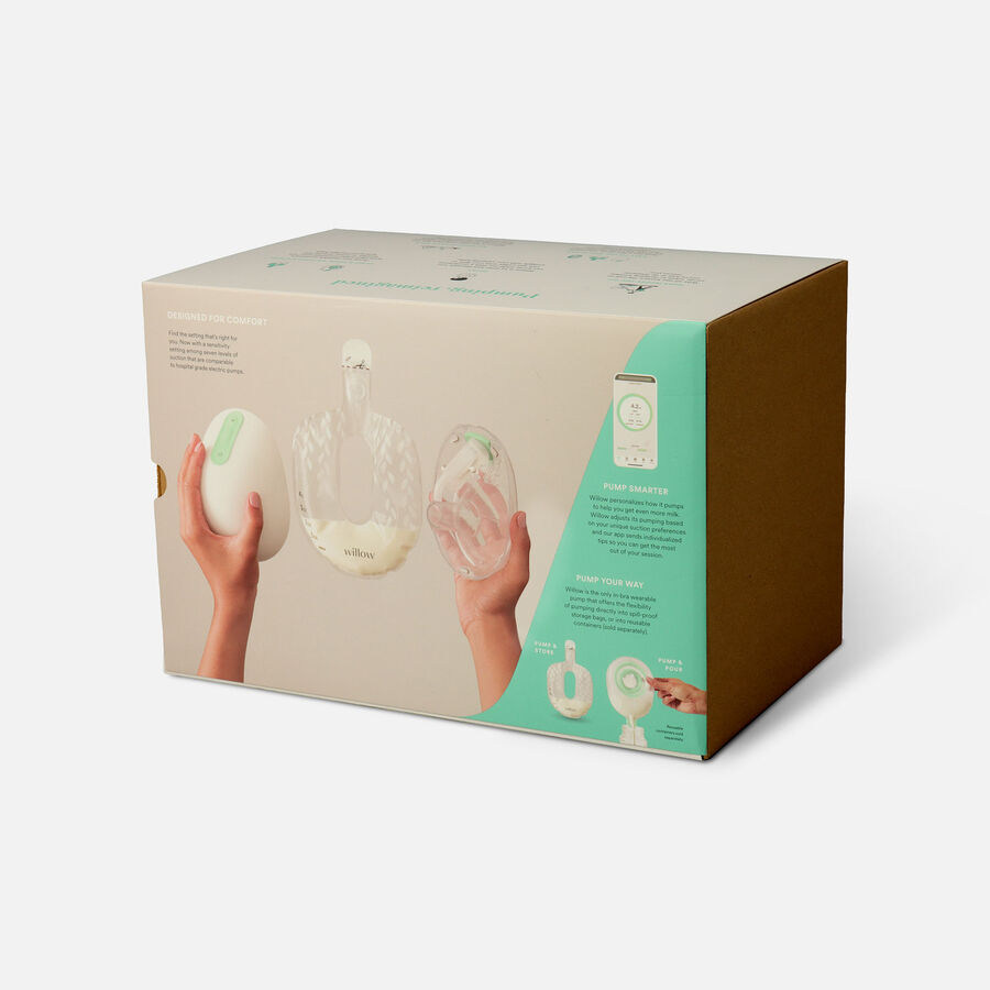 Willow Generation 3 Wearable Double Electric Breast Pump - White, , large image number 2
