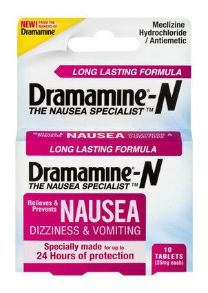 Dramamine Nausea Long Lasting Formula Tablets, 10 ct