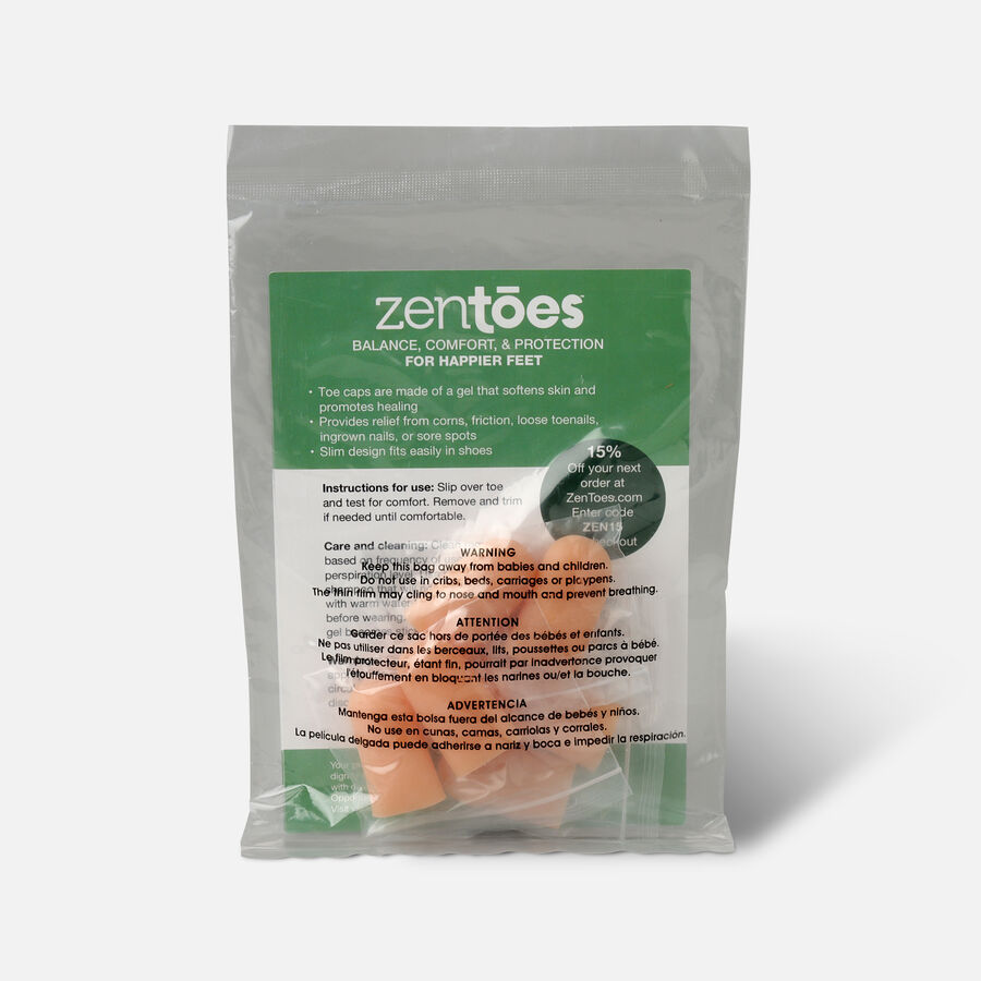 ZenToes Small Gel Toe Cap and Protector - 6 Pack, , large image number 1