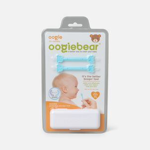 Oogiebear Baby Booger Picker with Case, 2-Pack, Blue/Blue