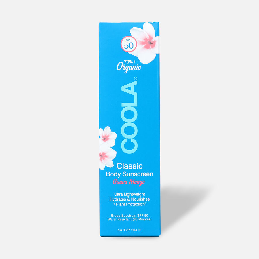 Coola Classic Body Organic Sunscreen Lotion SPF 50, Guava Mango, 5oz, , large image number 1