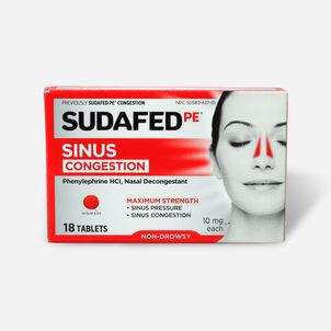 Sudafed PE Sinus Congestion Tablet, 18ct
