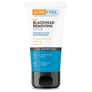 AcneFree Blackhead Removing Scrub with Charcoal, 5 oz