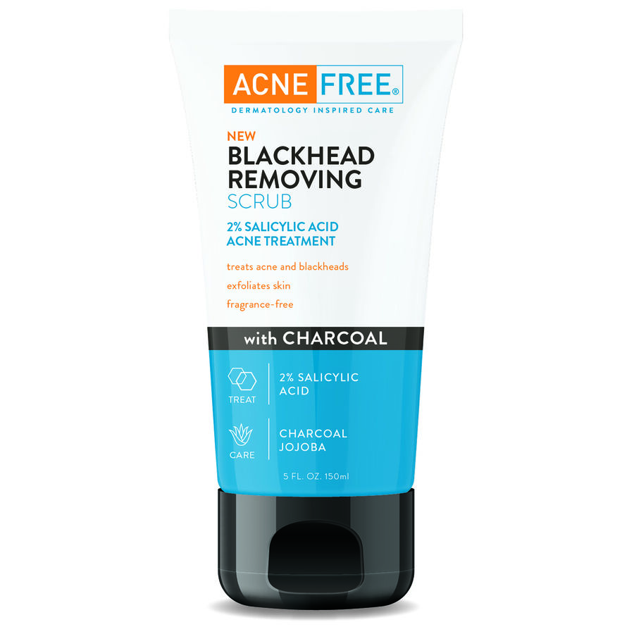 AcneFree Blackhead Removing Scrub with Charcoal, 5 oz, , large image number 0
