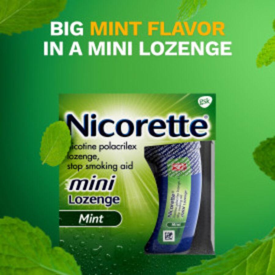 Nicorette Mini Nicotine Lozenges, Mint, 2mg, 81 ct, , large image number 5