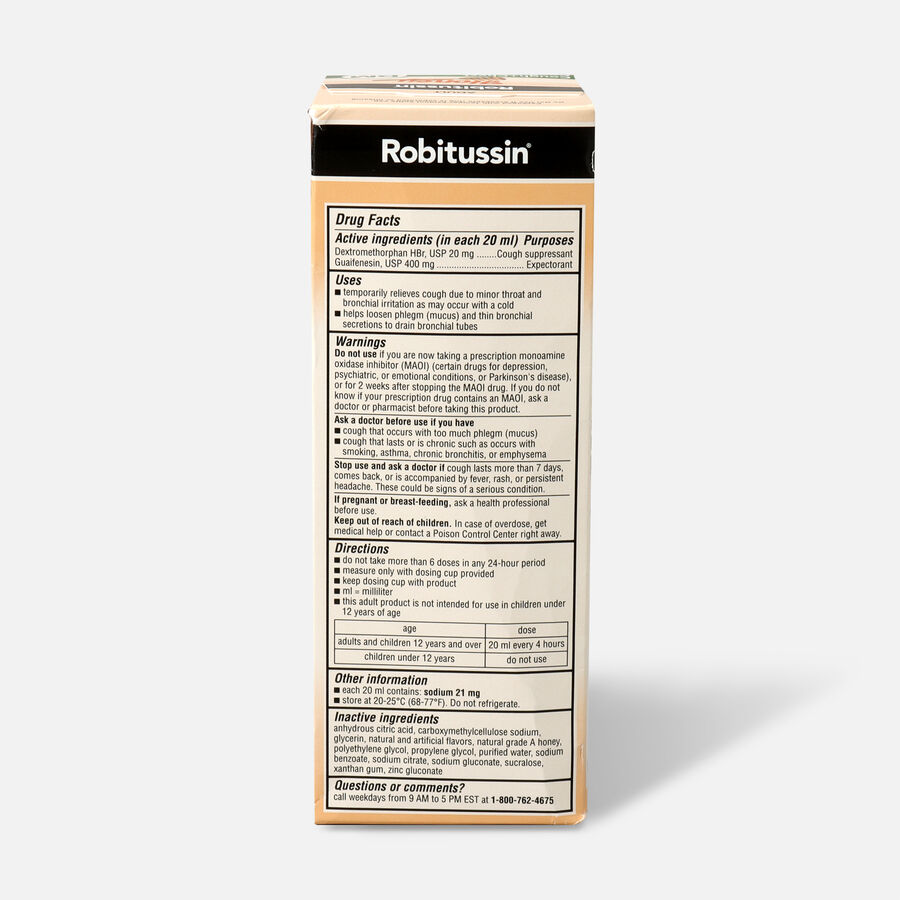 Robitussin Honey Cough and Congestion DM, Maximum Strength, 8 fl oz, , large image number 1