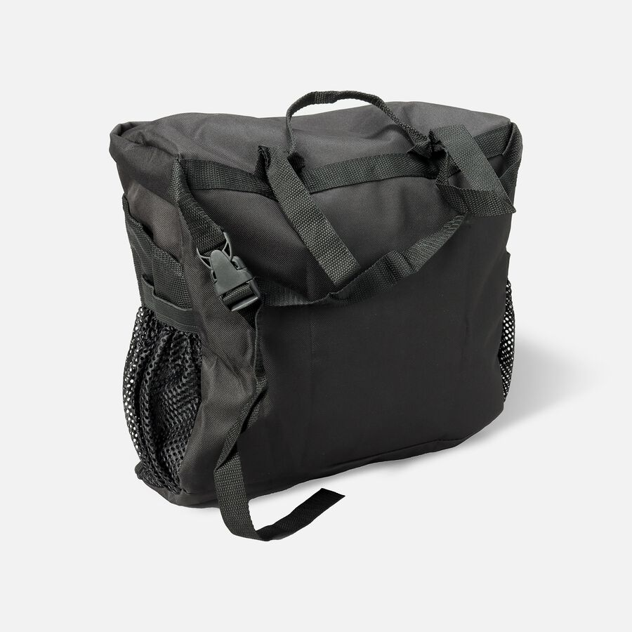 """Homecare Products Wheelchair Carry On Pouch 15"""" L x 15"""" x 5"""" H, Black, Nylon, , large image number 1"""