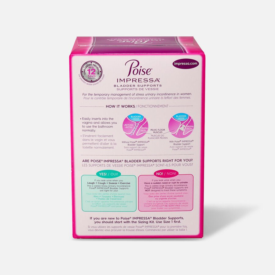Poise Impressa Bladder Supports for Women, 21 Count, , large image number 3