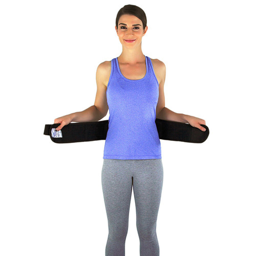 Back-A-Line Back Support with Lumbar Pad, Xtra Large, Black, , large image number 4