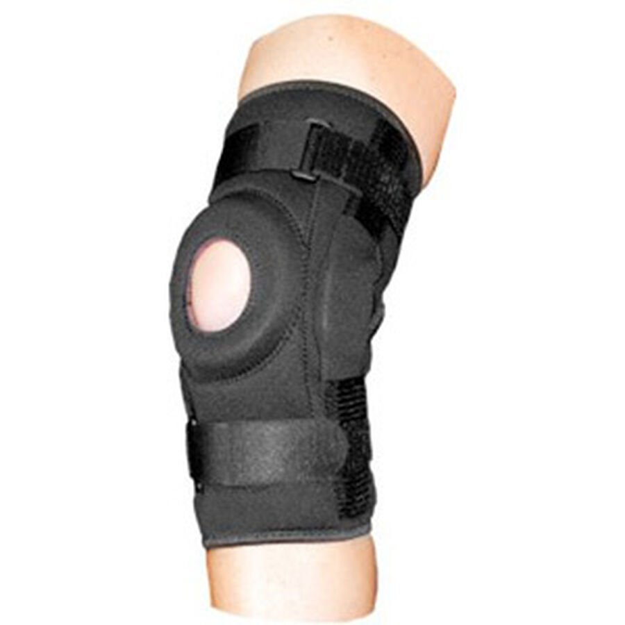 Bell-Horn ProStyle Hinged Patella Knee Wrap, Black, L/XL, , large image number 3
