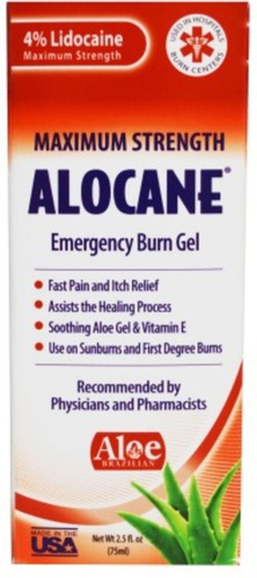 Alocane Maximum Strength Emergency Burn Gel, 2.5 oz, , large image number 1