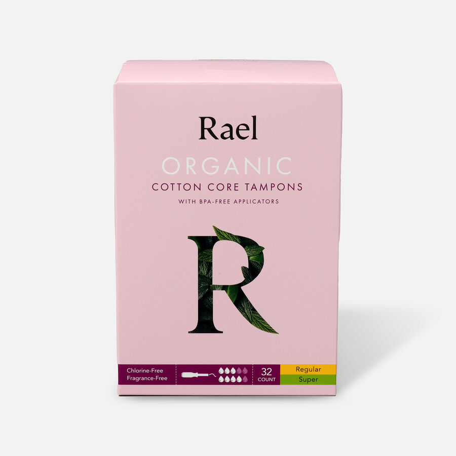 Rael Organic Cotton Core Tampons with BPA-Free Applicators, , large image number 3